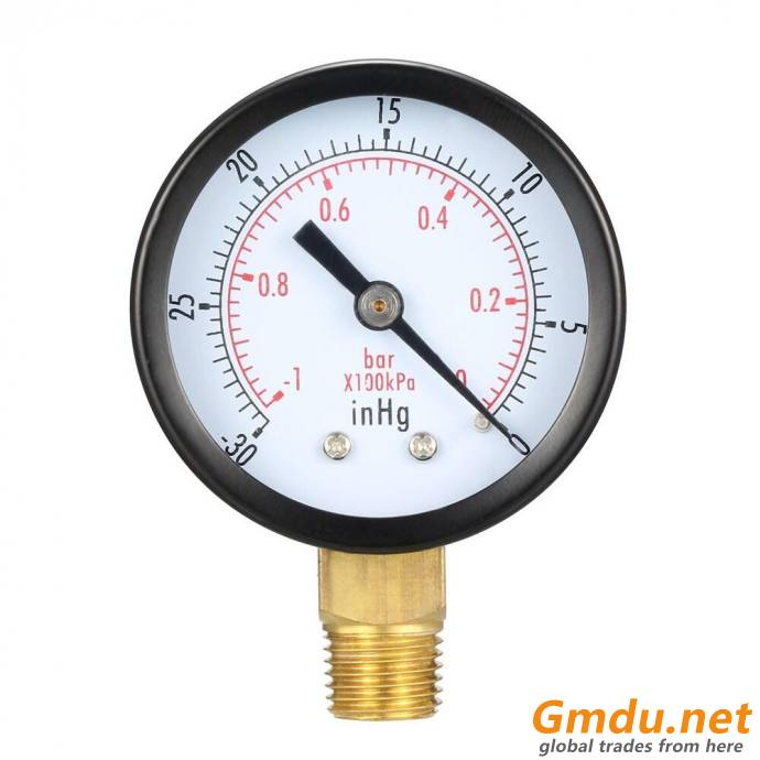 "Test Pressure Gauge, 1/4"" MNPT, Gauge Connection Location: Bottom"