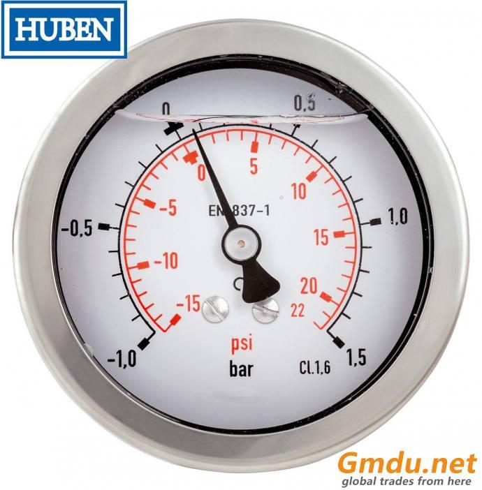 "General Purpose Pressure Gauge, 1/4"" MNPT, Gauge Connection Location: Bottom"