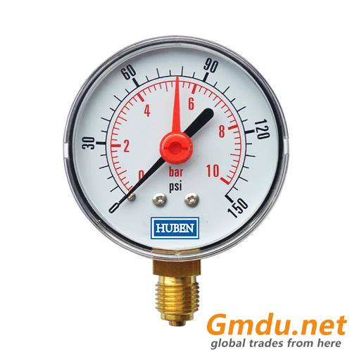 Commercial Gauge with Red Pointer