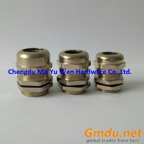 Nickel plated brass cable gland metric thread
