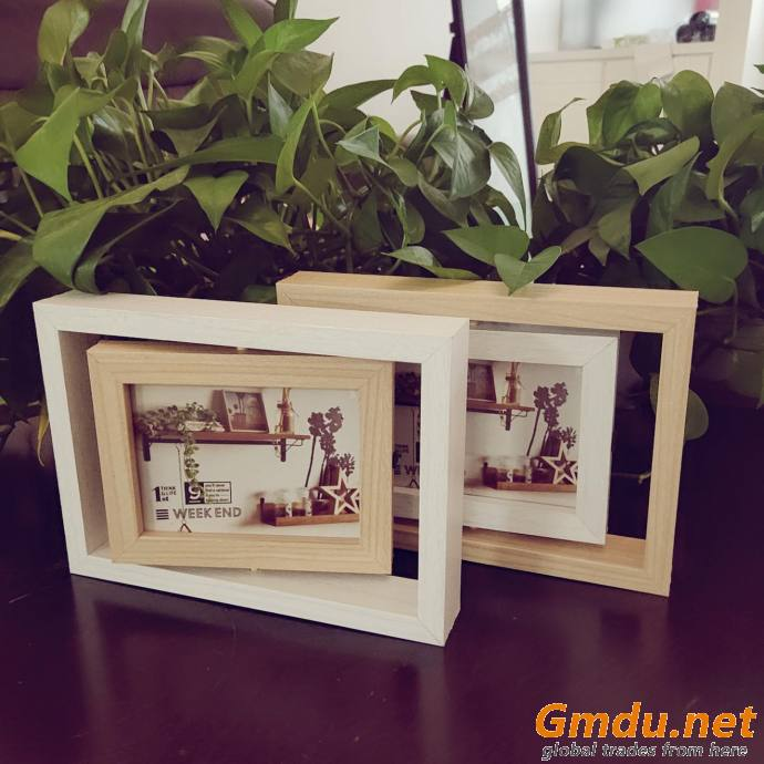 Turning wooden photo or picture frame