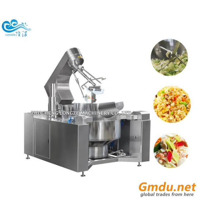 Gas Fired Commercial Food Cooking Mixer Machine 200l Capacity Price With Stirring
