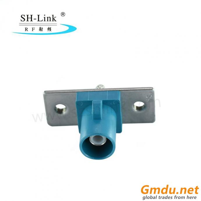 Delock FAKRA Z lug spring pin for soldering 2 prepunched holes SHM.900.0006-4.Z