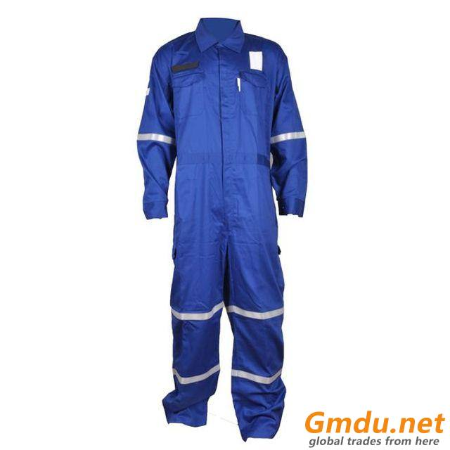 Cotton FR Coverall with reflective tape