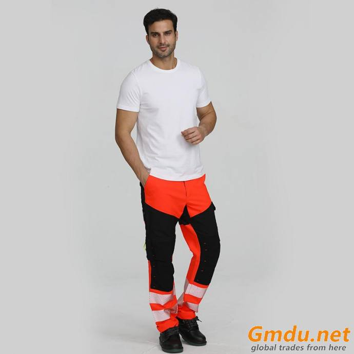Men'S Safety Overalls Construction Work Pants With Reflective Tapes