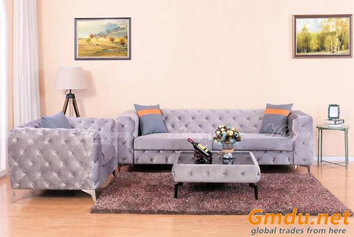 Elegant Button Tufted Sofa