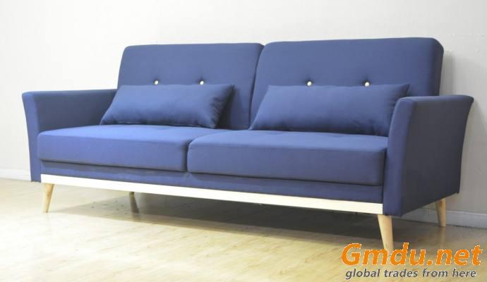 Fabric Two Seater Sofa Linen Classic Sofa