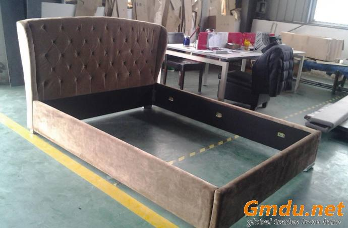 Sofa Bed Leather Bed Modern Luxury Upholstery Bed Furniture