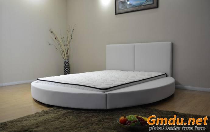 Modern Round PU Bed Low Profile Round Bed