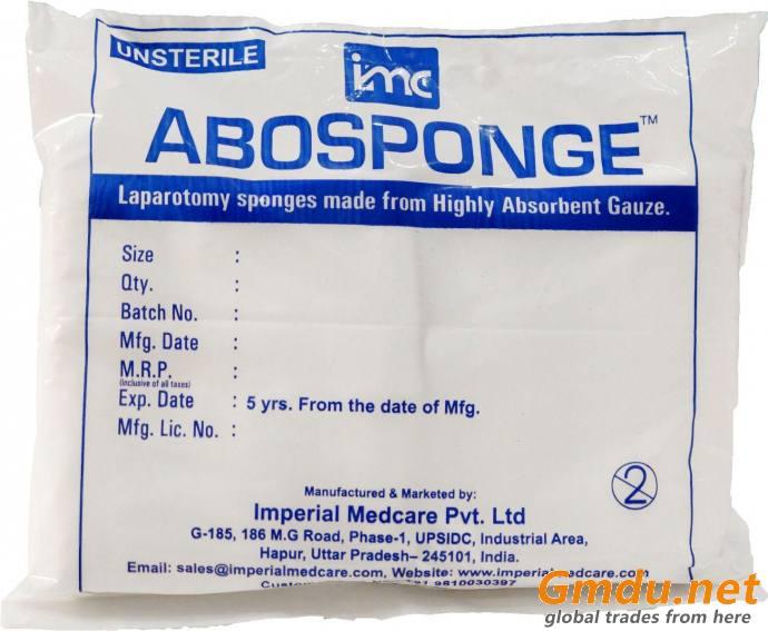 ABO Sponge - Un- Sterile Laparotomy Sponges with X-Ray Line - (10 Pcs Per Box)