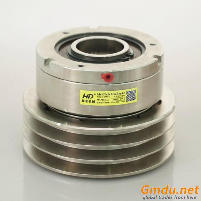 BDCV pneumatic clutch with belt groove