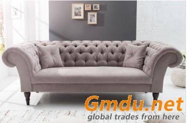 Classic European Style Linen Sofa