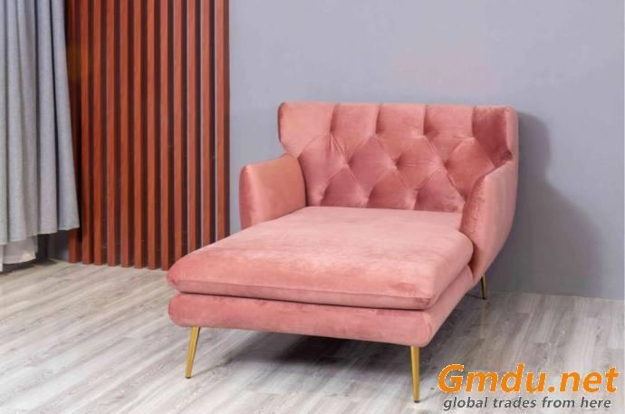 Velvet Classic Chaise Lounge