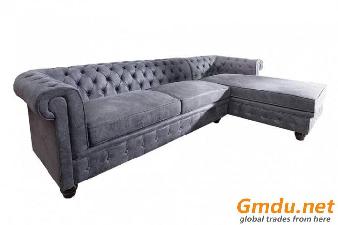 Rolled Chesterfield Arm Sofa