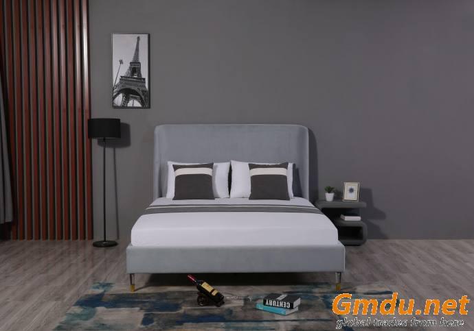 Upholstered Plain Bed