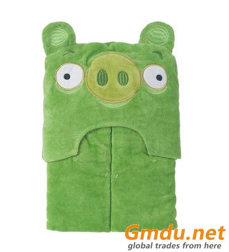 90*95cm Bear 100% Cotton Baby Hooded Bath Towel