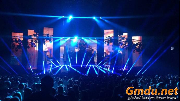 P4.75 Outdoor LED Video Wall Panels Rental Display Screen Chauvet F4