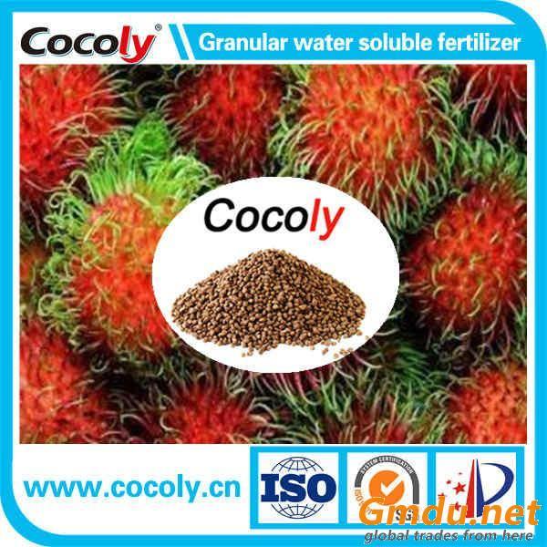 NPK+fulvic acid fertilizer 100% water soluble granules cocoly