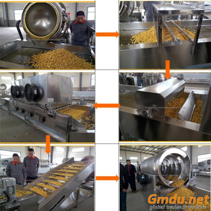 Automatic Industrial Electromagnetic Popcorn Making Production Line