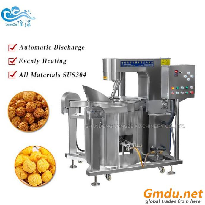 Commercial Caramel Popcorn Machine With Cooling Table Cooker And Coater