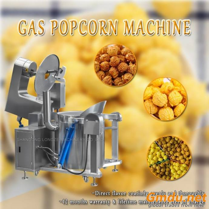 New Fully Automatic Gas Popcorn Machine Popcorn Mixer Equipment With Low Price