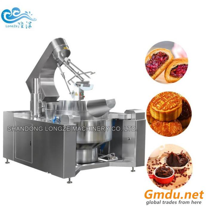 Commercial Sauce Cooking Jacketed Kettle Equipment With Mixer Mung Bean Paste Making Machine