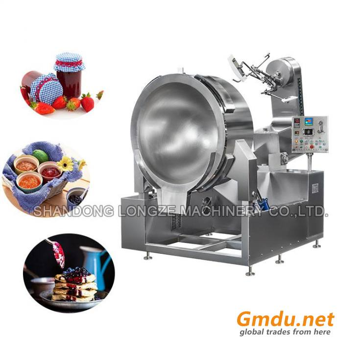 Commercial Planetary Stir Papaya Jams Cooking Mixer Machine For Firing Dishes
