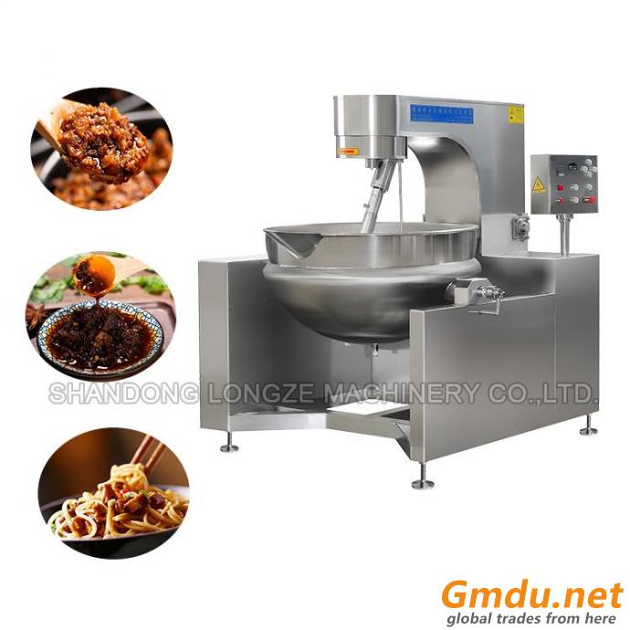 Vertical Fully-auto Gas Chili Garlic Sauce Cooking Mixer Price