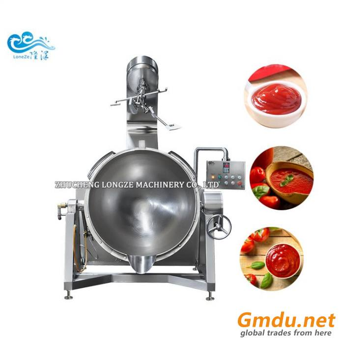Tomato Sauce Cooking Mixer Machine strring cooking jacketed kettle