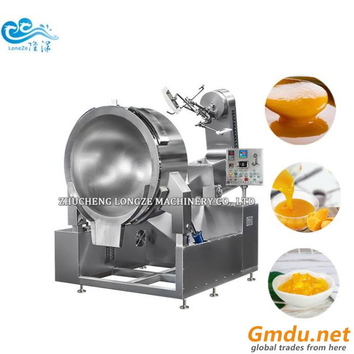 Pineapple Fruit Jam Cooking Mixer Machine tilting jacketed kettle