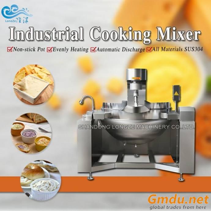 Bean Paste Steam Heated Cooking Mixer Machine