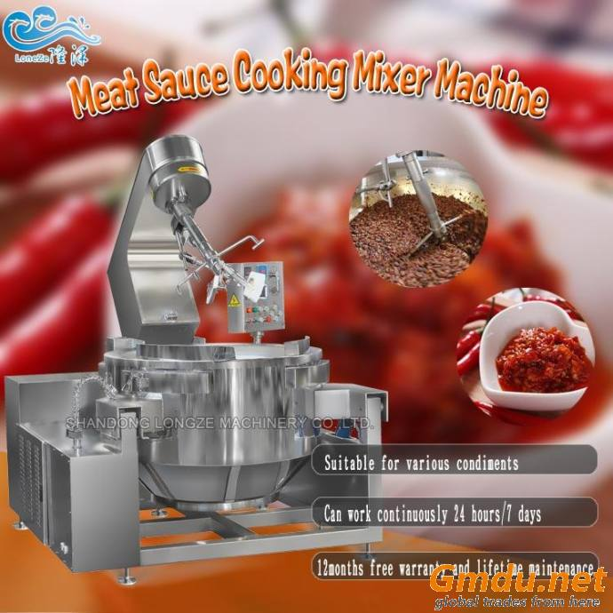 Meat Sauce Cooking Mixer Machine With Stirrer