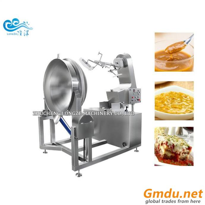 200L Steam Cooking Jacketed Kettle cooking mixer machine