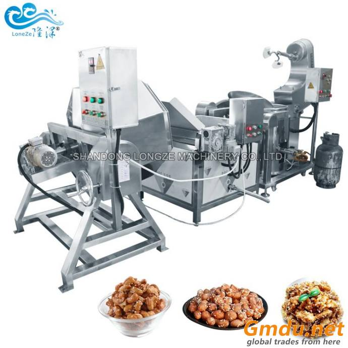 Industrial Chestnut Nuts Roasting Frying Processing Machine Almond Coating Sugar Machine