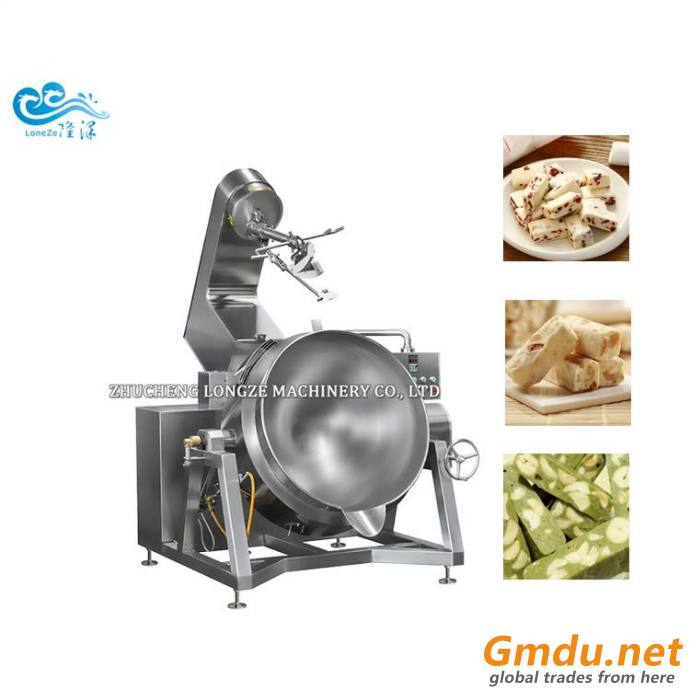 Delicious Sugar Melting And Nuts Coated Making Machine With Mixer