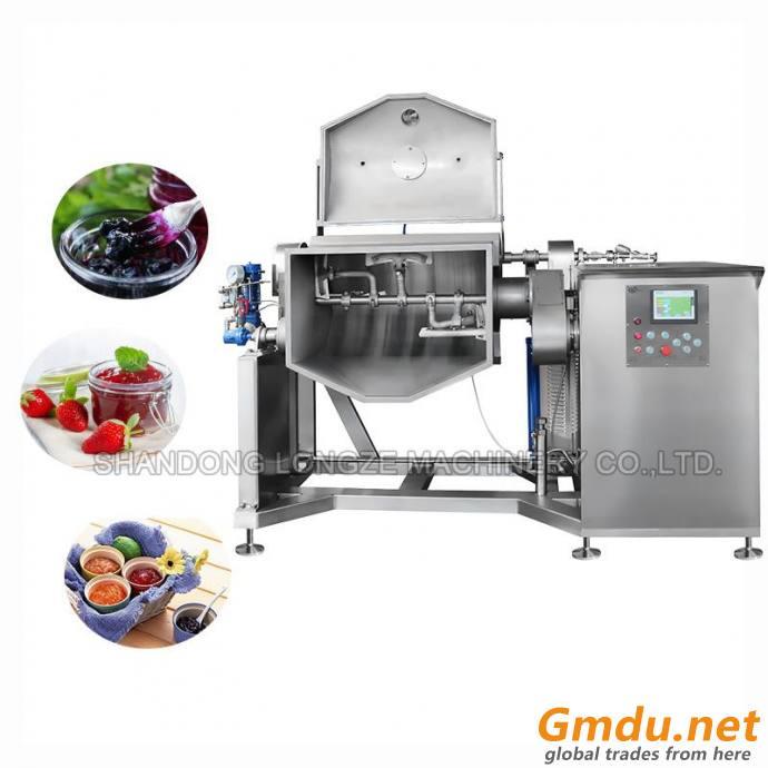 Vacuum Horizontal Cooking Mixer Machine