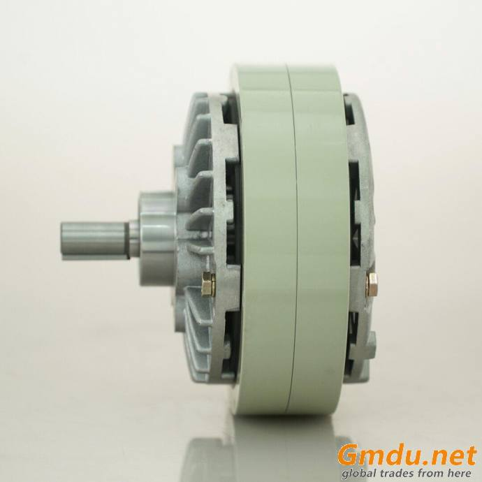 Hollow shaft magnetic powder brake