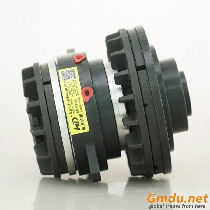 Air shaft through clutch and brake combination packing machine