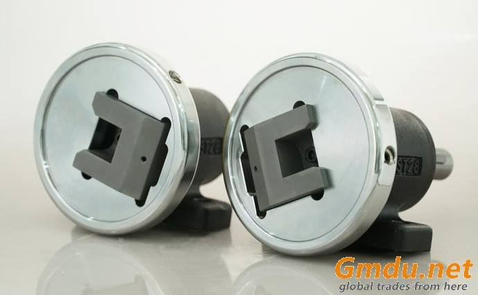 STO/W28 Foot mounted safety chuck rewinder and unwinder