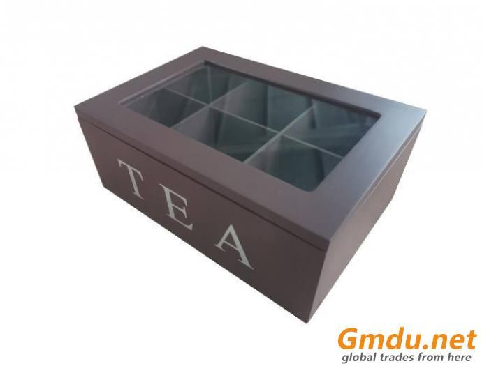 homeware wooden tea box