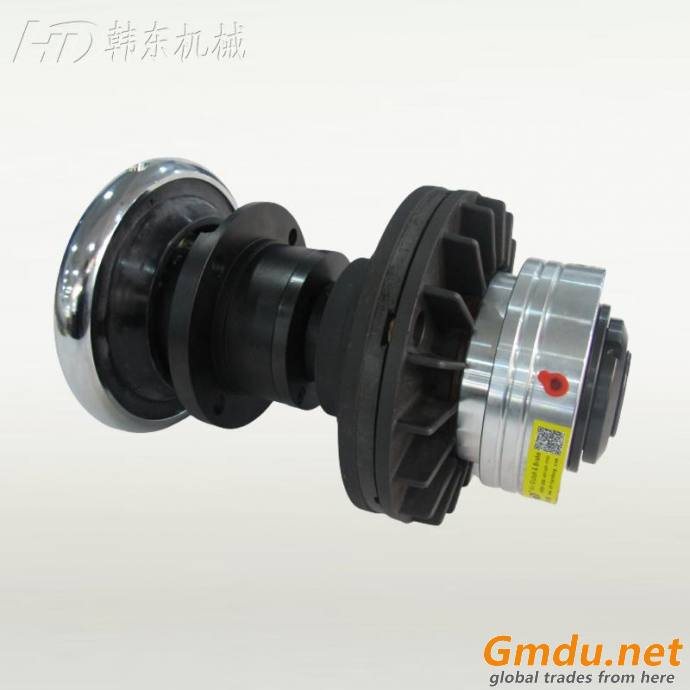 Foot mounted push safety chuck and pneumatic disc brake tension force control