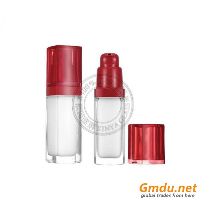 30ml liquid foundation pump sprayer glass bottle square cosmetic packaging