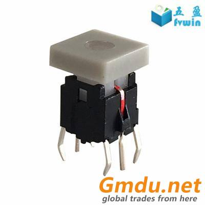 Illuminated Red Led tact switch 6x6mm with cap