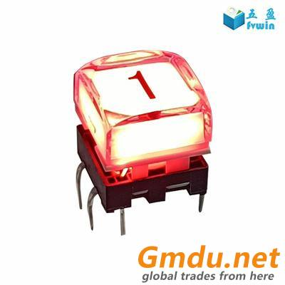 Control Panel illuminated 12mm Transparent Button Switch