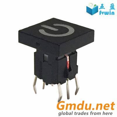 6Pin 6x6 Illuminated Led Push Button Tact Switch