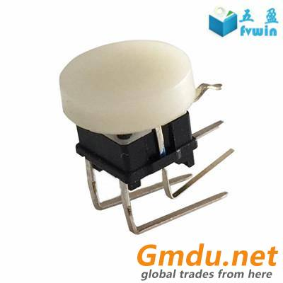 Illuminated Right Angle PCB Tact Push Switch With Tactile Cap