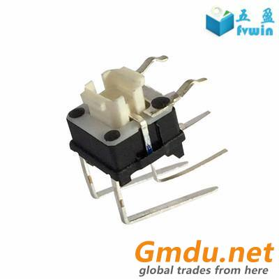 SPST PCB Mount Right Angle Tact Button Switch Blue LED