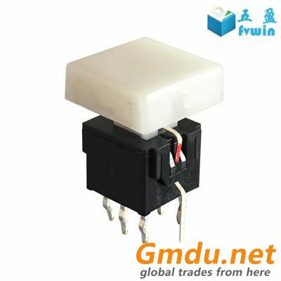 Latching DPDT LED illuminated switch on off push button