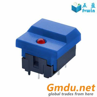 LED Momentary PCB Mount SPDT Push Button Tact Switch For Stage Equipment