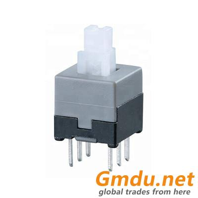 30V 0.1A 6 Pin DPDT Mini Push Self-locking Switch With Button